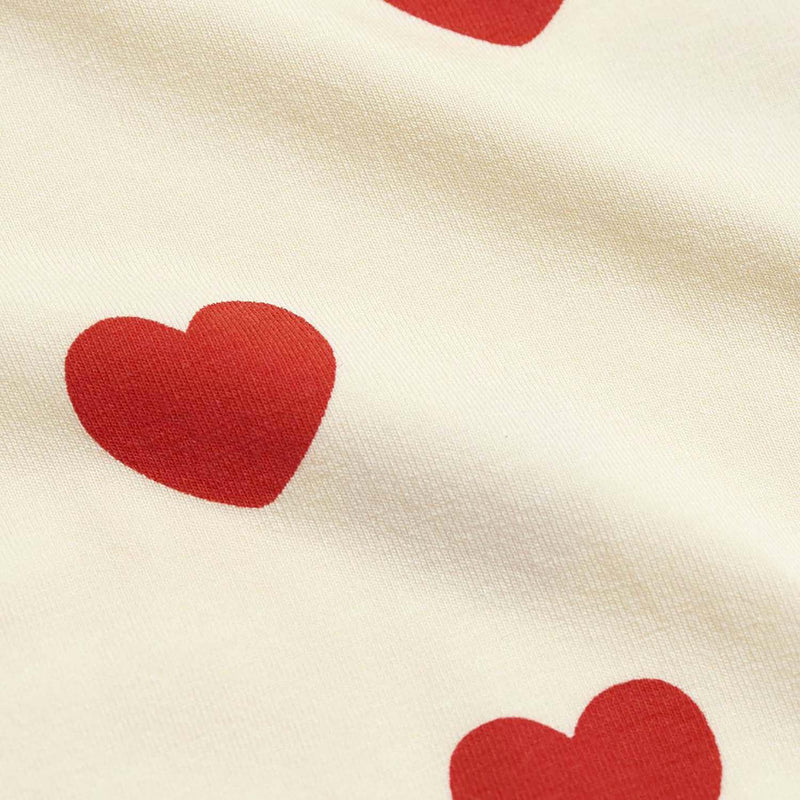 Mini Rodini Basic Hearts Kids Leggings Offwhite