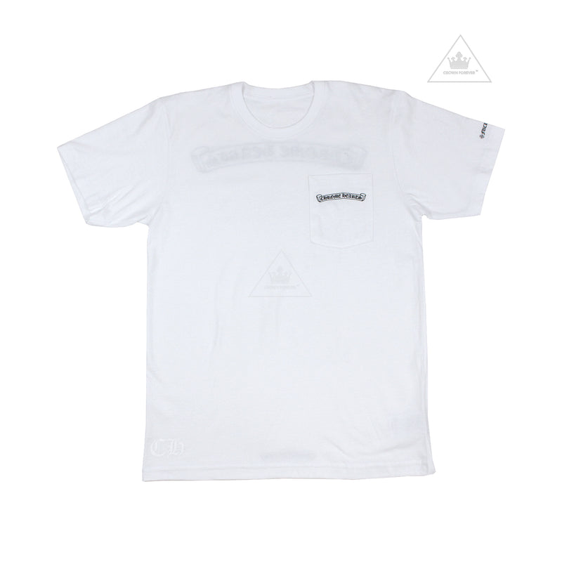 Chrome Hearts Scroll Label Short Sleeve T Shirt in White