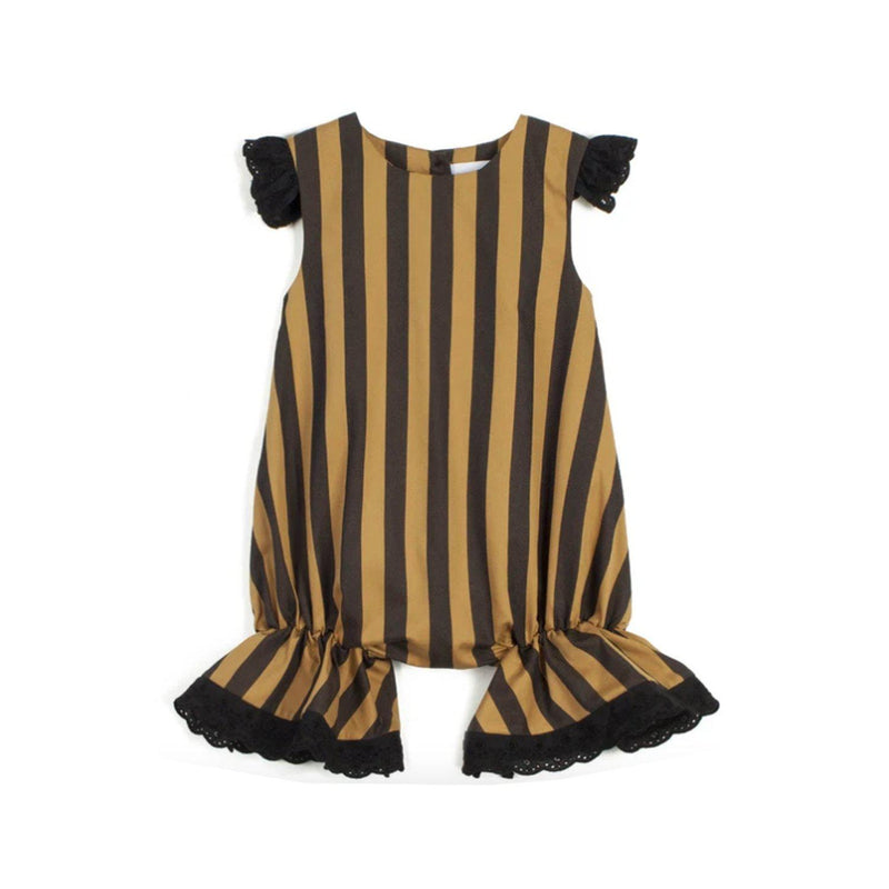 Wolf and Rita Baby Jumpsuit Rosalina Honey Stripes