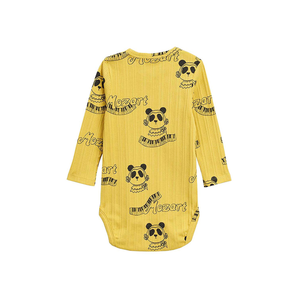 Mini Rodini Baby Mozart Baby Long Sleeve Body Yellow