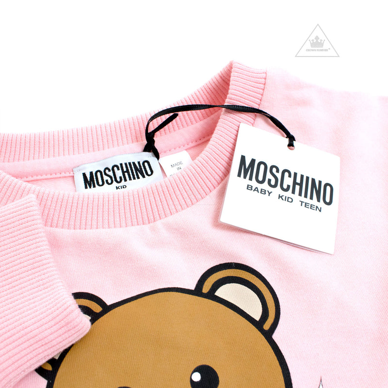 Moschino Kids Girls Dress With Snowflake Toy Bear