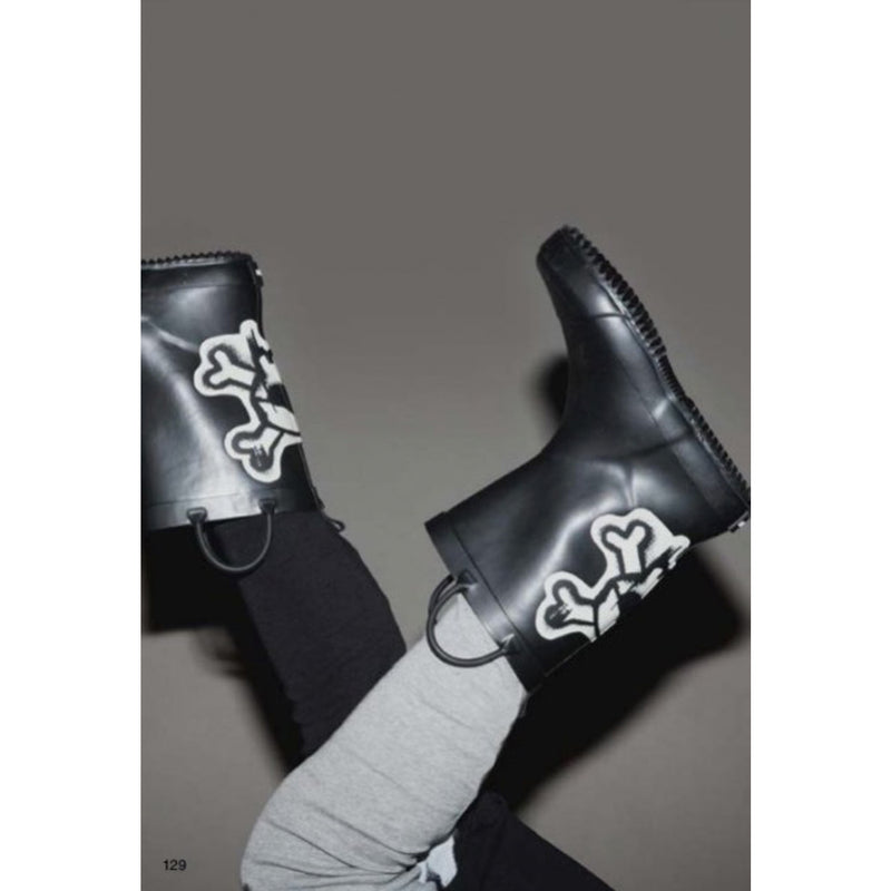 Nununu World Skull Patch Rainboots