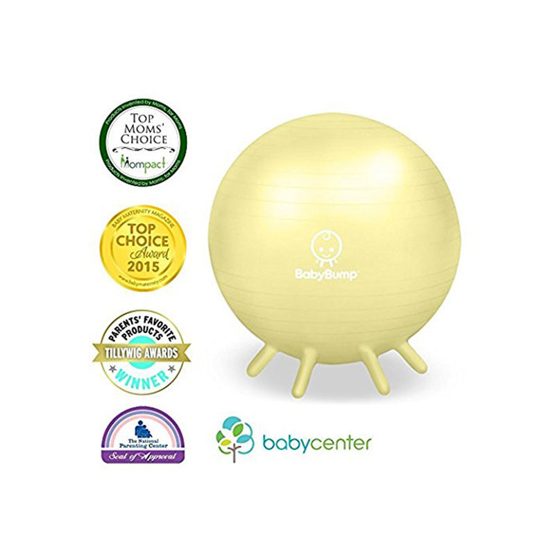 BABY BUMP™ Baby Bump Exercise Birth Ball No-Rolling Stability Pebble Beige