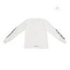 Chrome Hearts Flame Long Sleeve Tee White