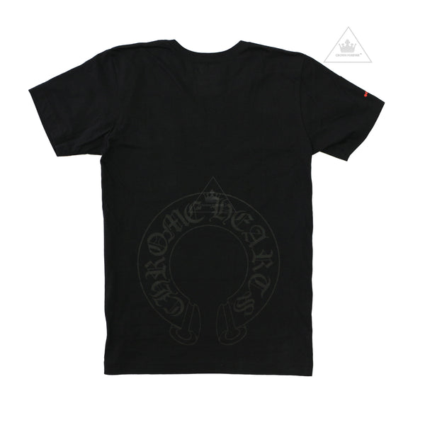Chrome Hearts Black Horseshoe Tee