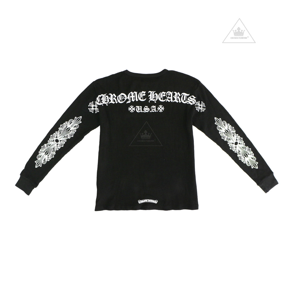 Chrome Hearts Floral Cross Thermal Long Sleeve