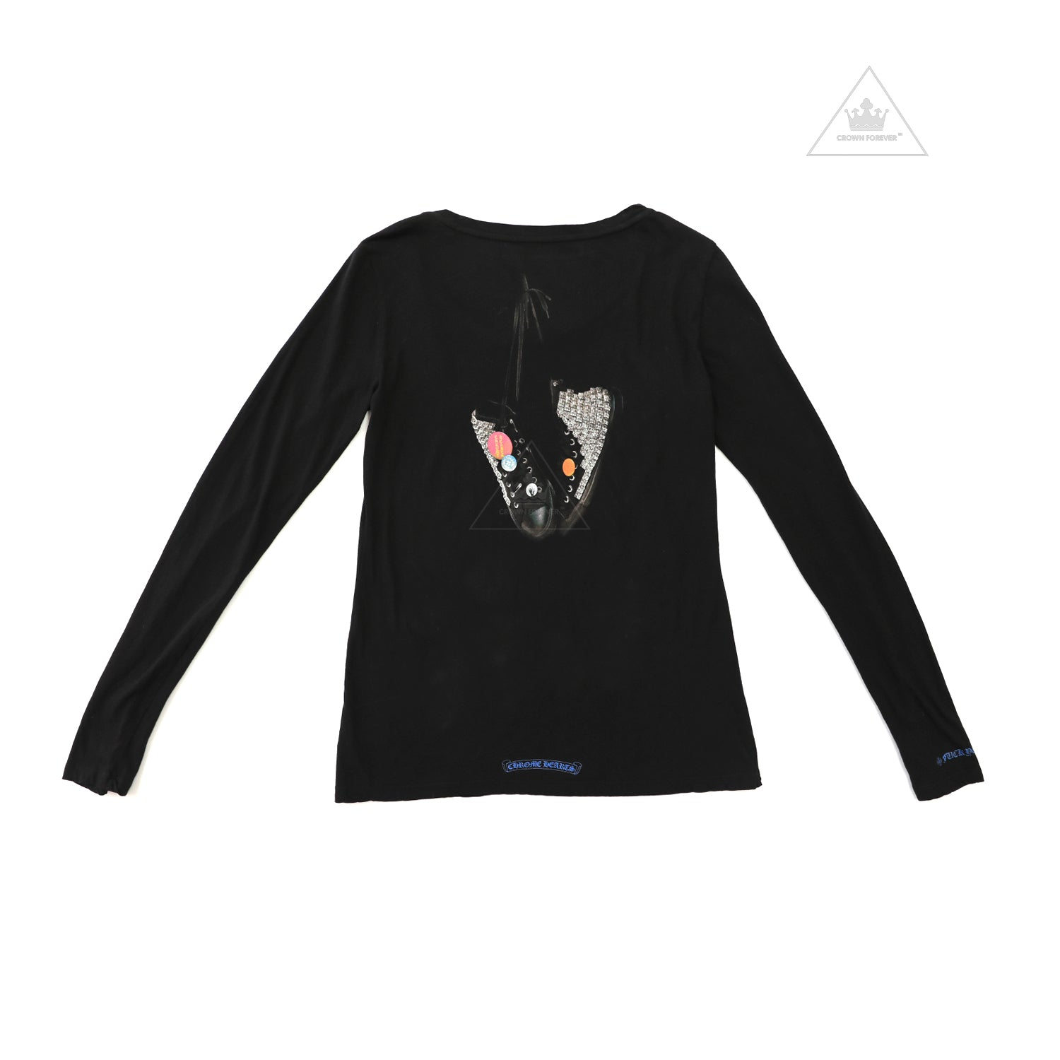 f678a179b339 Chrome Hearts Women s Limited Converse Sneakers Long Sleeve – Crown Forever