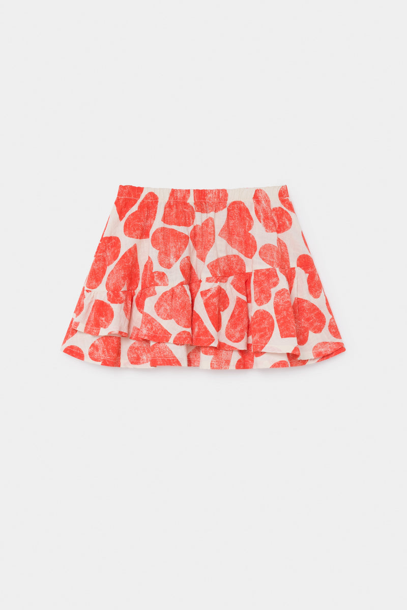 Bobo Choses All Over Hearts Ruffles Skirt