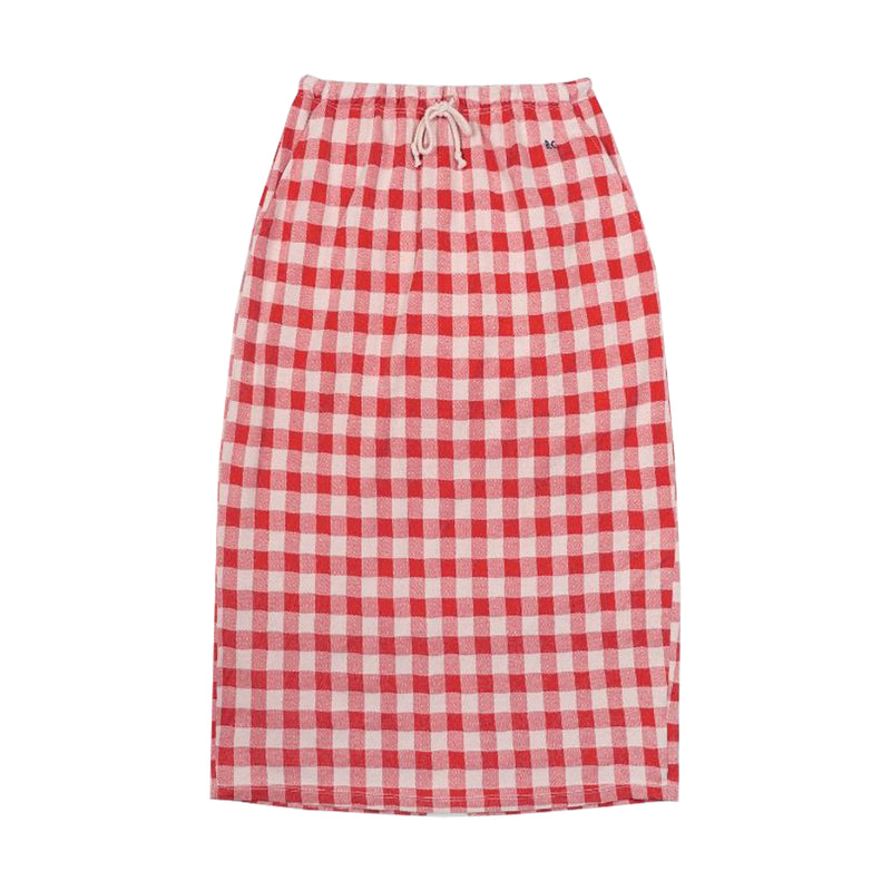 Bobo Choses Women Gingham Jersey Skirt