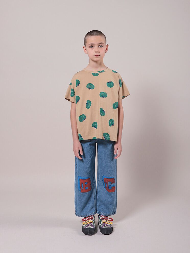 Bobo Choses Tomatoes All Over Short Sleeve T-Shirt Organic Cotton