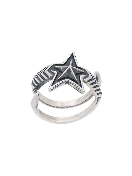 Cody Sanderson Double Arrow Medium Star Ring