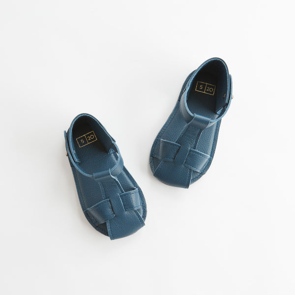 Ili and Charlie T-Strap Sanal Toddler Boy Blue Print