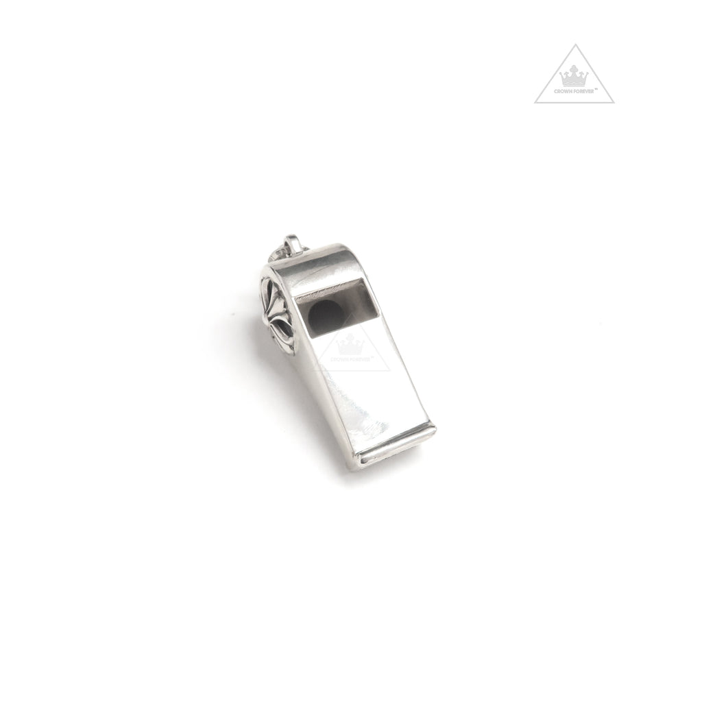 Chrome Hearts Classic Silver Whistle Pendant - Large
