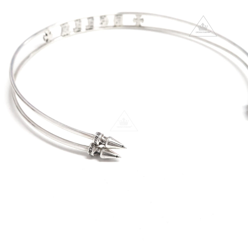 Chrome Hearts CH+ Bella Hadid Spike Choker Necklace