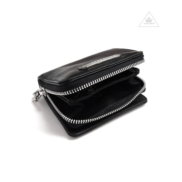 Chrome Hearts Zip Bill Square Wallet