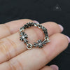 Chrome Hearts Tiny E CH Plus Paved Diamond Ring