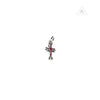 Chrome Hearts Babyfat Ruby Stone Cross Pendant