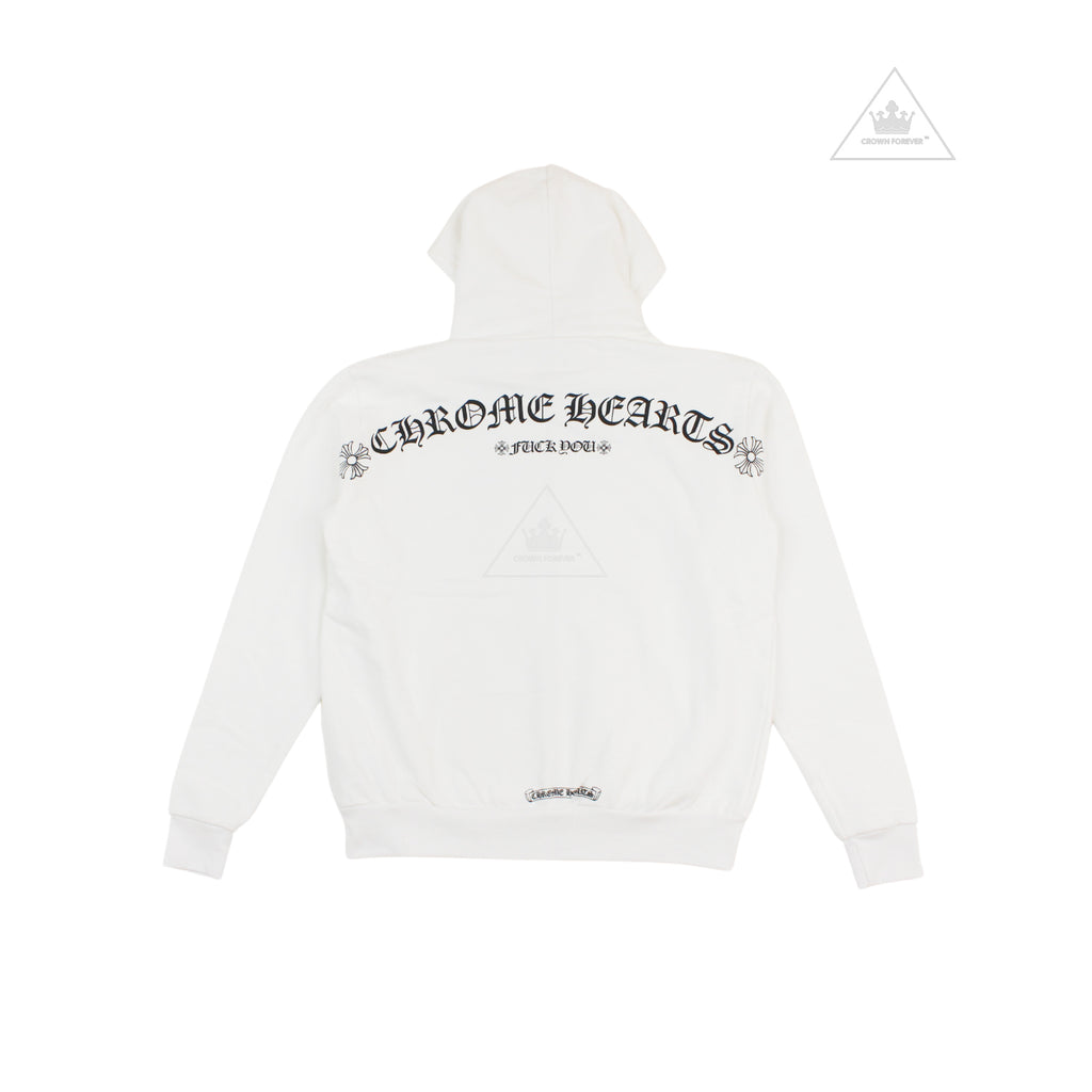 The Chrome Hearts T Logo Script Letter Zip Hoodie