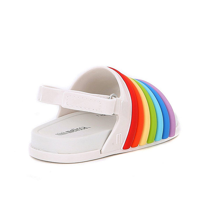 be5126d50d15 Mini Melissa Beach Slide Sandal Rainbow With Color – Crown Forever