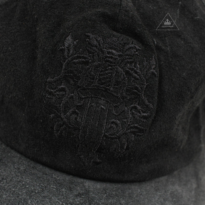 Chrome Hearts Slouchy 5 Panel Dagger Hat in Suede Cow Leather