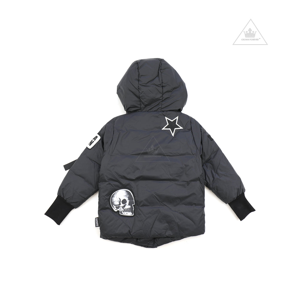 Nununu World Super Patch Down Jacket Black