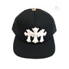 Chrome Hearts Cemetery Cross White Leather Patch Trucker Cap