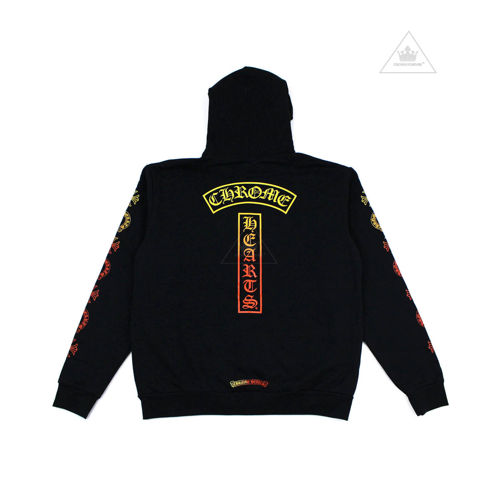 Chrome Hearts Multicolor Gradient T Logo Pullover Hoodie