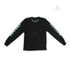 CH Script Letter Long Sleeve Tee-Black
