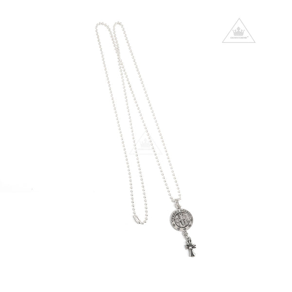 CH Medallion Cross Necklace
