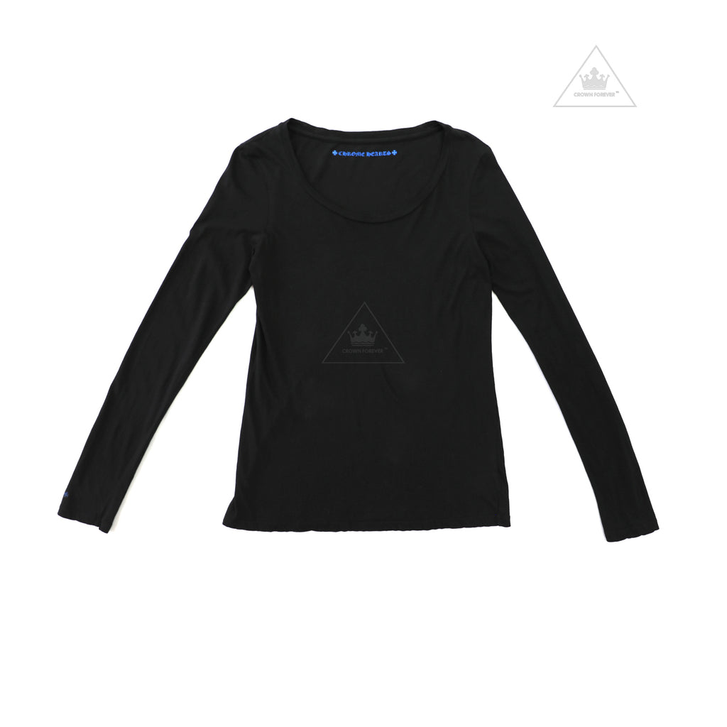 CH Women's Limited Converse Sneakers Long Sleeve T Shirt Black