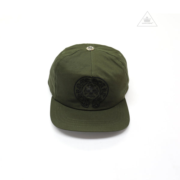 Chrome Hearts Slouchy 5 Panel Cap Army Green