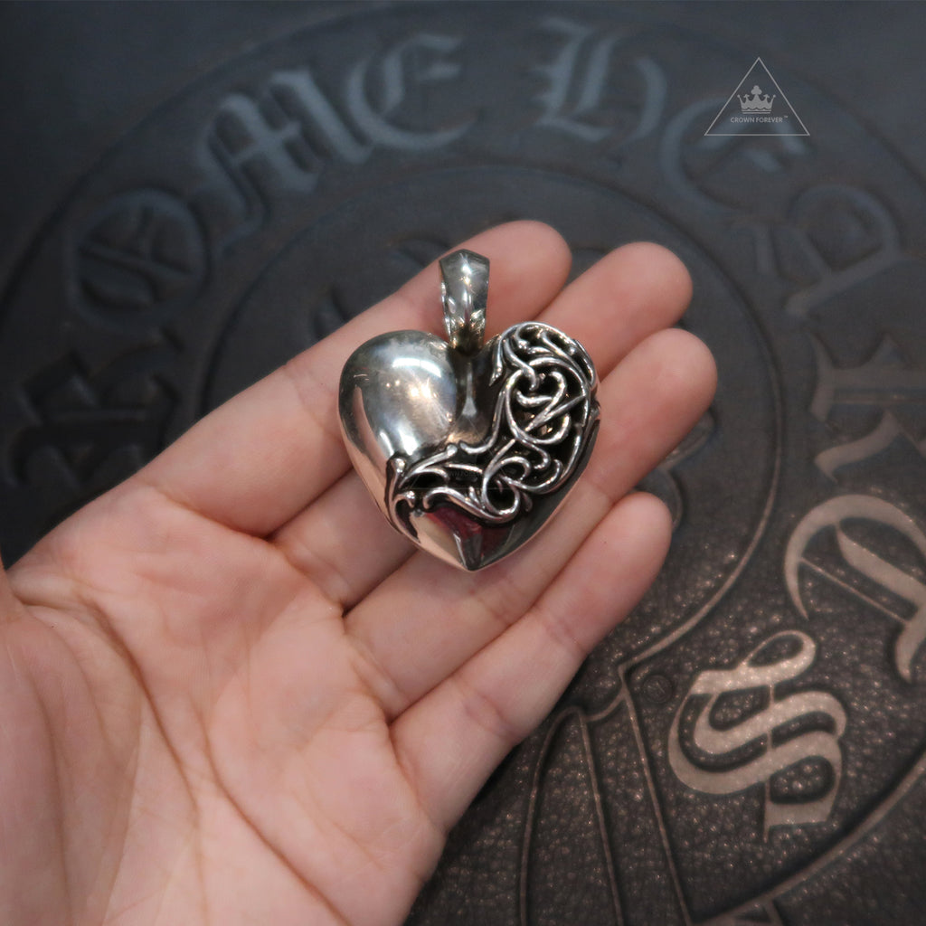 Chrome Hearts Chrome Hearts Heart Locket Pendant
