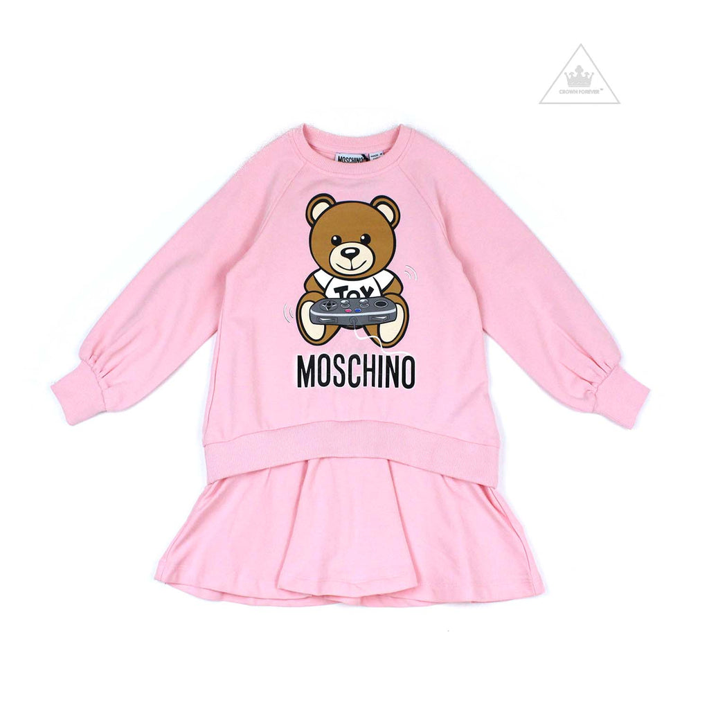 Moschino Kids Long Sleeve Dress with Toy Controller Graphic