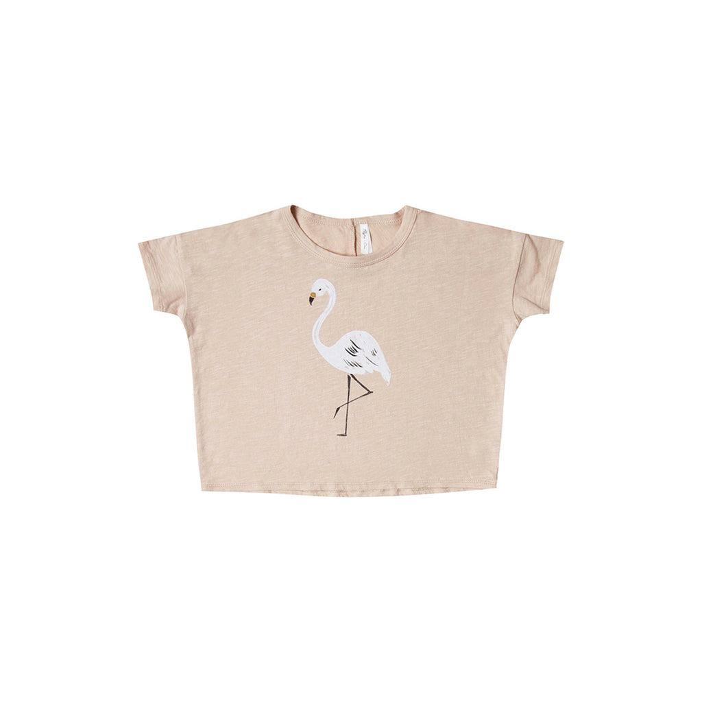 Rylee And Cru Flamingo boxy tee