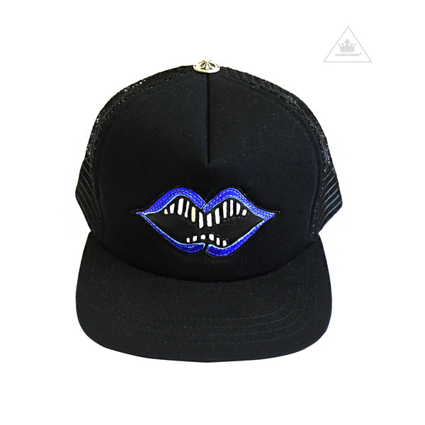72a86a5b244 Chrome Hearts Matty Boy Chomper Trucker Cap Blue