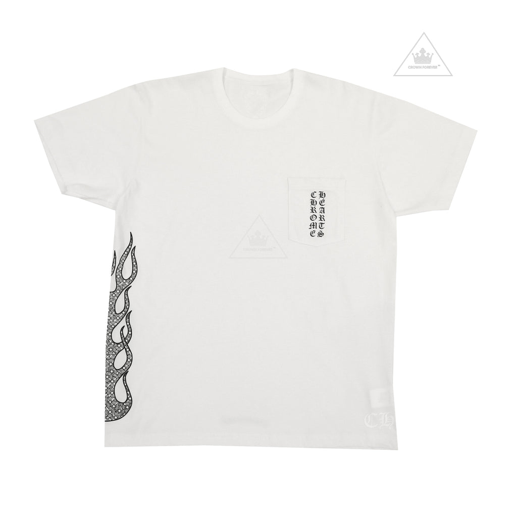 Chrome Hearts Flame Tee White