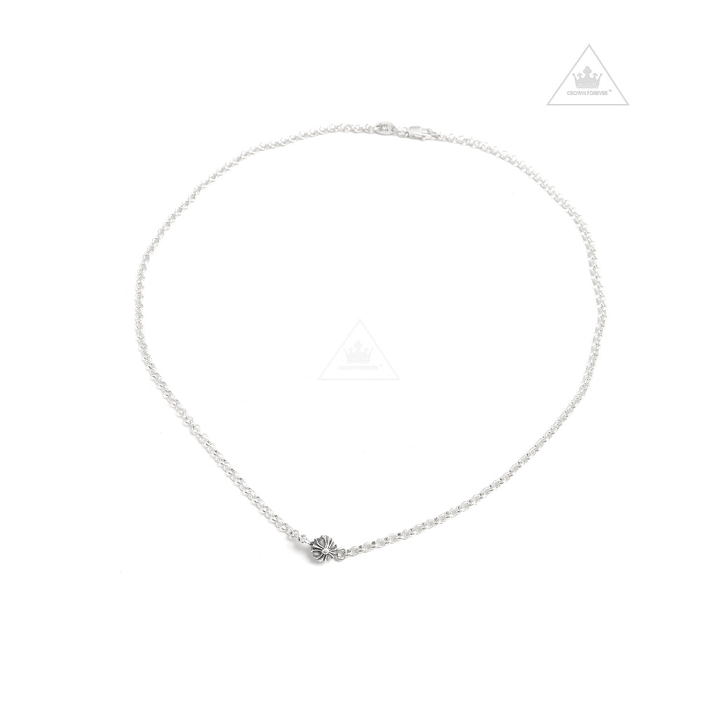 Chrome Hearts CH + Ball Chain Bead Necklace