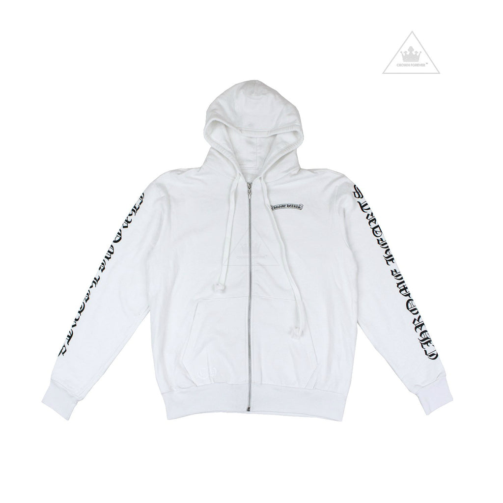 Chrome Hearts Letters Sleeve Label Thermal Zip Hoodie