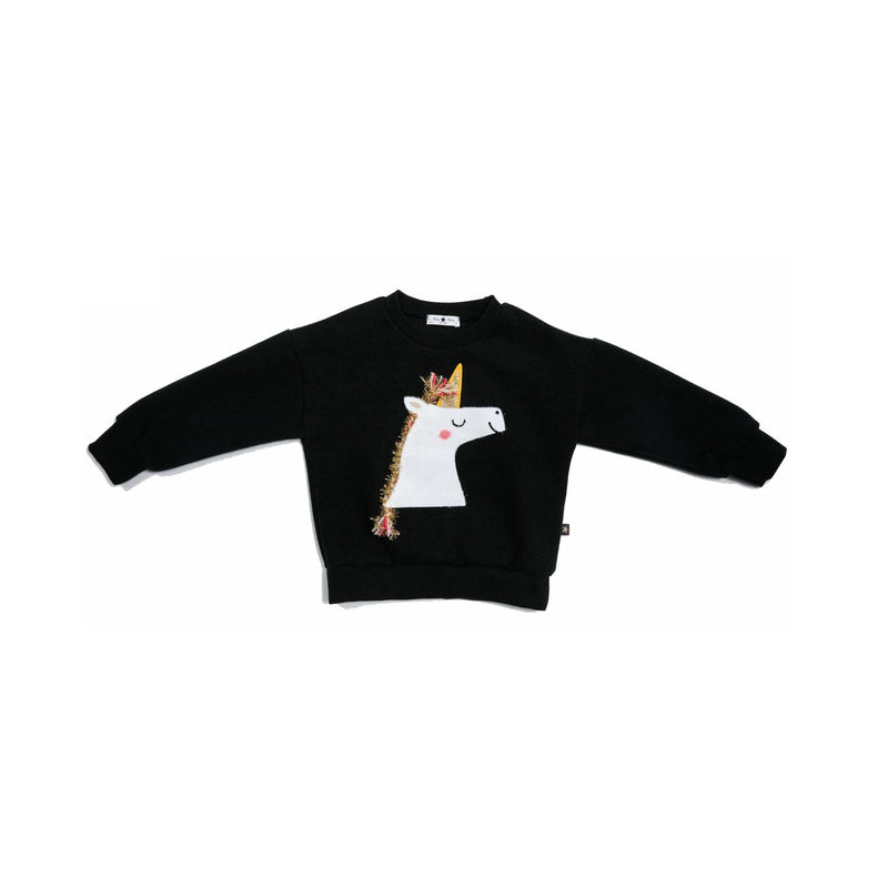 Petite Hailey Unicorn G Sweatshirts Black