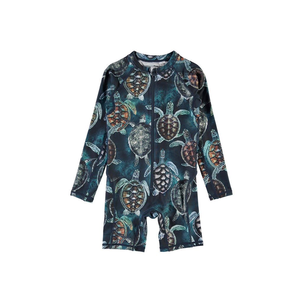 Molo Neka One-piece Rashguard Swimsuit Sea Turtles