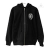 Chrome Hearts American Flag Cemetery Fleece Cross Zip Hoodie
