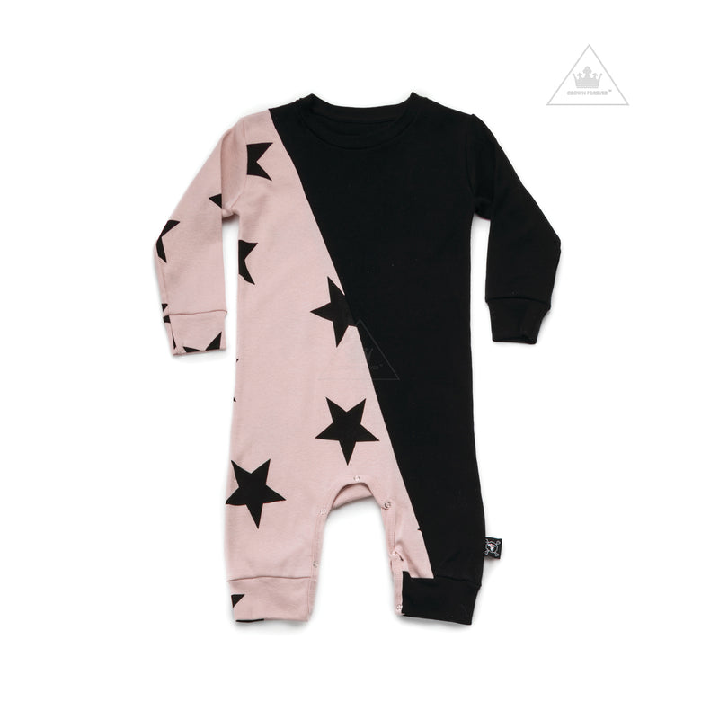 Nununu World 1/2 & 1/2 Star Playsuit Pink