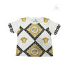 Young Versace Greek Key Medusa Patterned Children Tee