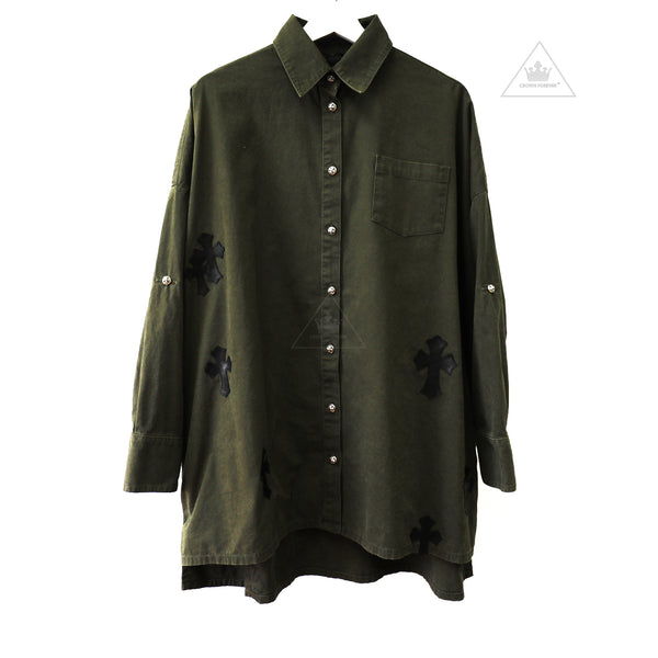 Chrome Hearts Women's Mahal Kita Long Sleeve Shirt Green