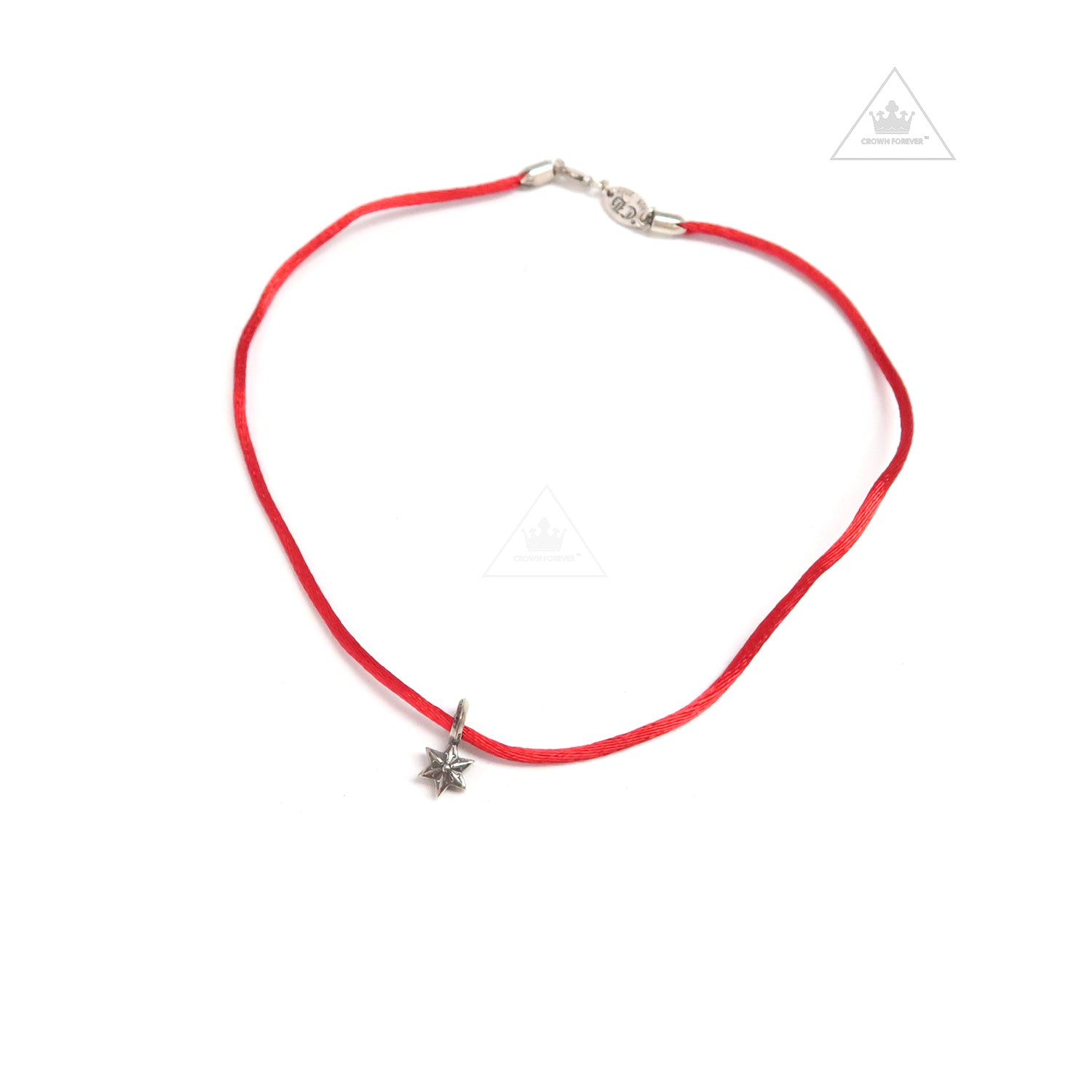 cd61ecfa428c Chrome Hearts KZ Stack Charm Star V2 Choker Necklace Red – Crown Forever