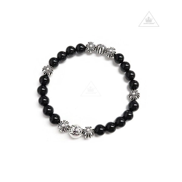 Chrome Hearts 8MM V4 Bead Bracelet Black Tourmaline