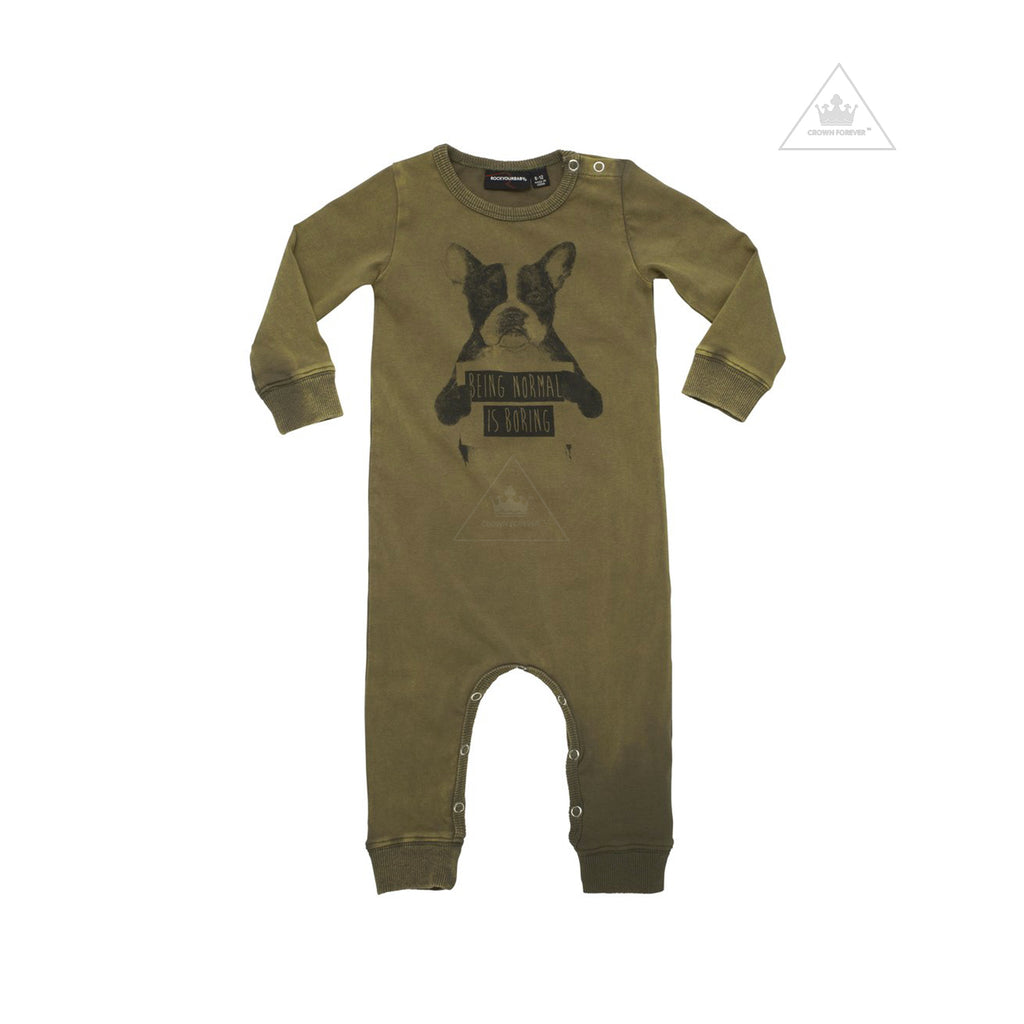 Rock Your Baby Normal Is Boring Long Sleeve Playsuit