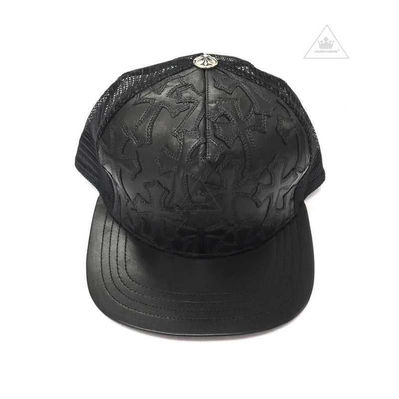 CH Cemetery Cross Leather Stitched Trucker Cap
