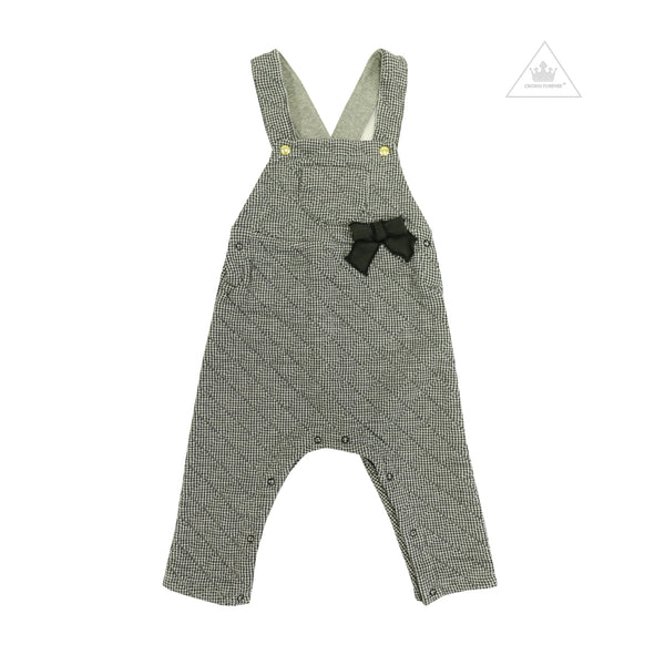 Petit Bateau Baby Girl Overall With Front Pocket And Bow