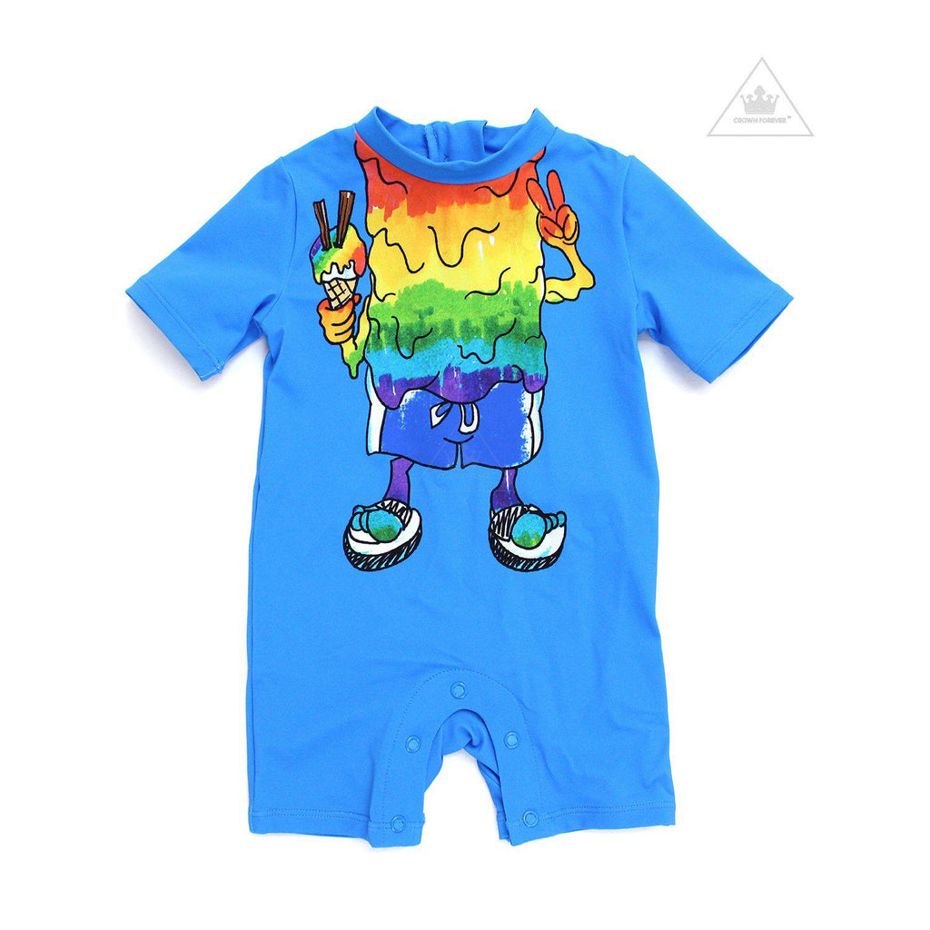 Stella McCartney Kids Baby Boy Rainbow Monsters Rashguard